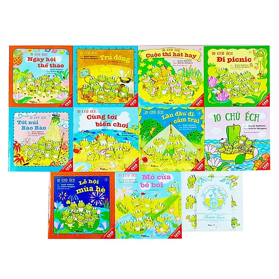 Sách Ehon Nhật Bản 10 chú ếch - Top những cuốn sách Ehon được yêu thích nhất năm 2019